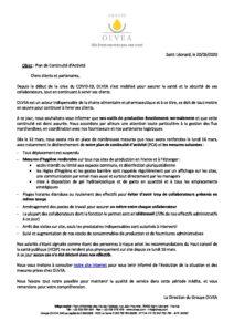 COVID-19 - Plan de Continuité d'Activité : 20/03/2020 1